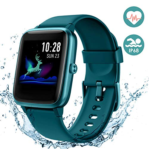 Arbily Smartwatch, Fitness Armband Voller Touchscreen Uhr, IP68 Wasserdicht Armbanduhr, Smart Watch mit Schrittzähler Pulsmesser Stoppuhr für Herren Jungen Sportuhr für iOS Android (Blau)