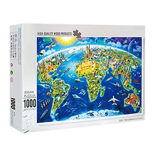 IGLZ 1000 Piezas de Rompecabezas clásico Mapa de la Serie DIY de Alta dificultad Educación descompresión Puzzle Juguetes for Adultos y niños