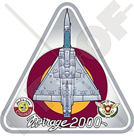 MIRAGE 2000 QATAR Dassault Luchtvaart Mirage 2000-5EDA Qatar Emiri Air Force QEAF Vliegtuig Qatari 3,7 (95mm) Vinyl Sticker, Decal