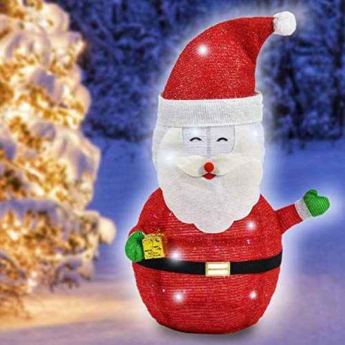 Standing Christmas Santa Claus, 40 LED Light Up Christmas Decoration, Porch, Lawn Decoration Indoor Outdoor Decoration (Santa Claus)