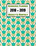 Classic Retro Academic Planner Calendar 2018-2019 Weekly & Monthly V6: Includes Monthly Calendar and Weekly Lined Pages (Vintage Agendas And Organizers)