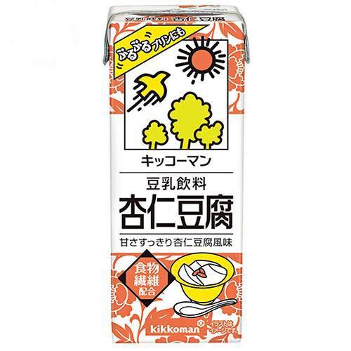 キッコーマン 豆乳飲料 杏仁豆腐 200ml紙パック×18本入×(2ケース)