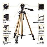 WOVYNC Supporto per treppiede professionale per fotocamera Supporto per treppiede regolabile in alluminio 50-140 cm per Clip per telefono iPhone X 7 6s