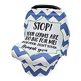 Cubierta De La Lactancia Del Bebé, CNNINHAO Nursing Cover Elástico Mantas de Lactancia Multi-funcional Funda de Enfermería de Privacidad para Bebés (Azul)