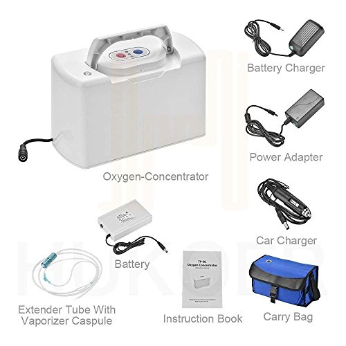 SageTech Portable O2 Concentrator Generator Air Purifier for Home and Travel