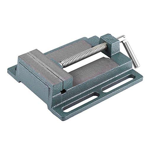 Drill Press Vice - Tornillo de banco para taladro de columna, banco con pinza de banco y apertura paralela, mesa de estaño, apertura de mordaza de 110 mm