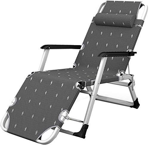 OESFLas sillas sillón reclinable Plegable al Aire Libre Inicio de Aluminio Silla del Ocio al Aire Libre Jardín Silla Plegable de la Siesta, Cama Plegable Que se Puede Dormir y reclinación