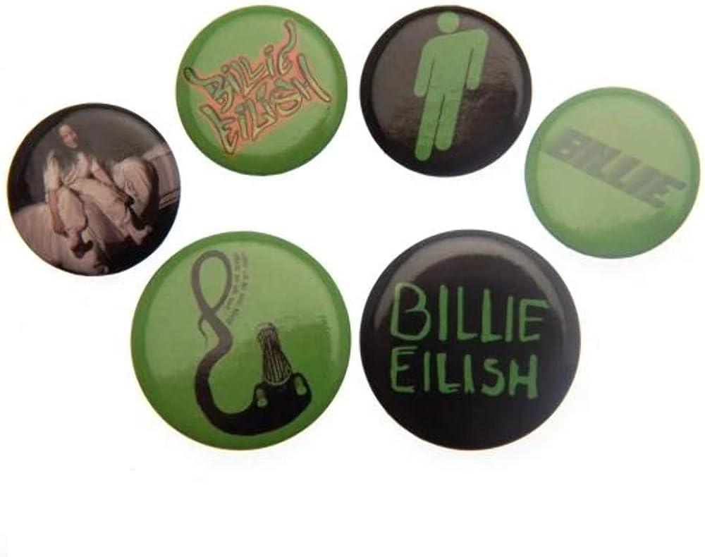 OFFicial sale Billie Eilish Button Badge Green One Set Size