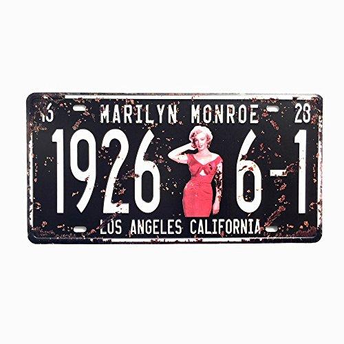 DiiliHiiri Placa De Matrícula Cartel Vintage para Pared de Chapa de Metal Diseño Creativo Decoraciones de Bar Pub Cafetería (Marilyn Monroe)