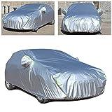 Gengcan Autoabdeckung für Subaru Impreza Hatchback Vollgarage Abdeckplane Wasserdicht Staubdicht Schneeschutz Sonnenschutz UV Schutz Autogarage Autohülle Stil D Silber, 435x180x160 cm