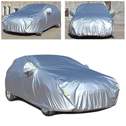 Gengcan Autoabdeckung für Volkswagen Golf 6 Vollgarage Abdeckplane Wasserdicht Staubdicht Schneeschutz Sonnenschutz UV Schutz Autogarage Autohülle Stil D Silber, 435x180x160 cm