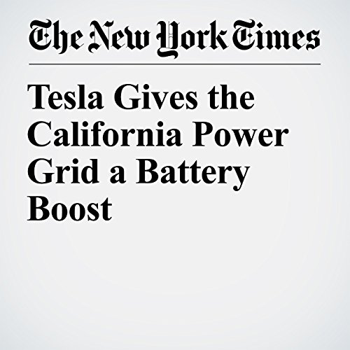 Tesla Gives the California Power Grid a Battery Boost copertina