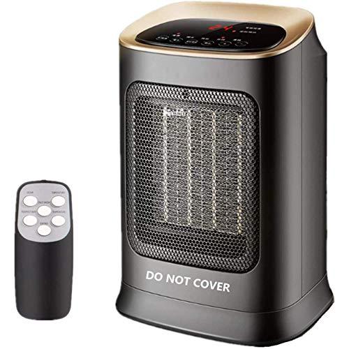 VIY Mini Calefactor Eléctrico Cerámico Baño, Calefacción Eléctrica Silenciosa Bajo Consumo, Portátil Calefactores Aire Caliente Pequeño, 1800W (Negro)