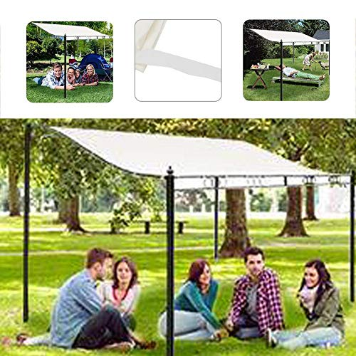 niyin204 Shade Sails Waterproof Canvas 300D Tent Roof Cover Garden Wind Replacement Canopy Roof Consistent
