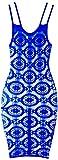 Leg Avenue Daisy Crochet Negligee, Royal Blue, One Size para Mujer