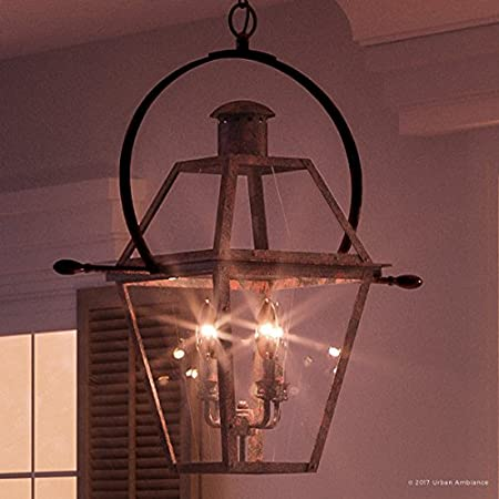 with Colonial Style Elements Olde Bronze Finish and Clear Shade Small Size: 11H x 9.875W UHP1123 from The Plymouth Collection by Urban Ambiance Luxury Rustic Outdoor Ceiling