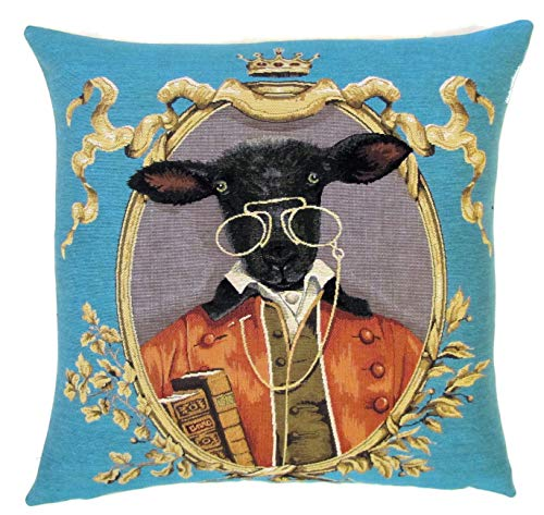 negro ovejas almohada cubierta de oveja negro regalo ovejas tiro almohada vestida ovejas cojín cubierta peculiar regalo de oveja tapicería almohada cubierta