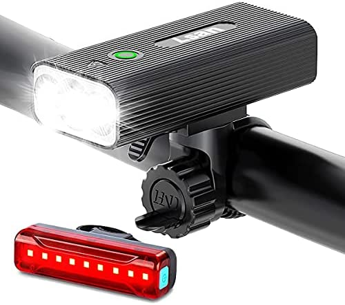 [2021 Newest] 1200 Lumens USB Rechargeable Bike...