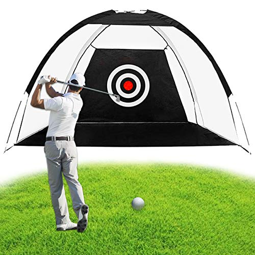 ENOKER Golf Practice Net Golf Hitting Practice Net with Target Golf Hitting Training Aids Net with Target and Carry Bag for Backyard Driving Chipping for Indoor and Outdoor Golf Training