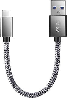 USB Type C ケーブル JR INTL【0.2m/グレー/保証付き】USB C機器対応 USB 高耐久ナイロン編み タイプ C ケーブル 高速データ転送 Sony Xperia XZ/XZ2, Samsung Galaxy S9/S8, Macbook Pro, Nexus 5X/6P, GoPro Hero 5/6 その他Android各種、USB-C機器対応
