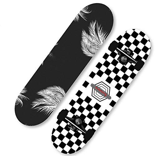 HUADUO Skateboard Complet débutant Skateboard Pro 31'x8 érable Double Kick Penny Skate Board pour Adultes Enfants Adolescents garçons Filles-Couleur H