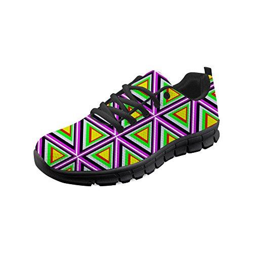 Shinelly Herren Abstraktes Muster Muster Sportschuhe Laufschuhe Sneaker Atmungsaktiv Leichte Traillaufschuhe Abstraktes Muster EU 40