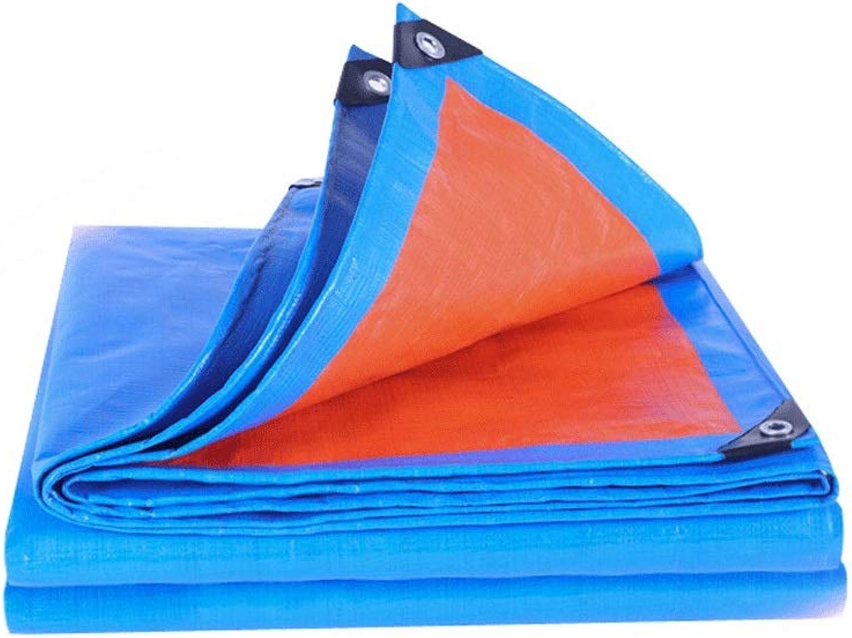 Tarpaulin Outdoor Waterproof Sunscreen Tarpaulin Thickened Large Truck Oil Canvas Sunshade Rain Tarpaulin (color   blueee, Size   4X5m)