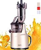 JIARUI Slow Juicer Entsafter, Früchte & Gemüsesaft Kaltpresse (150W, 60 U/min, 58 dB leise, BPA...