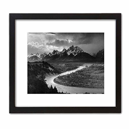 ArtDash Photo Art Print Famous Historical Picture: Ansel Adams  The Tetons and The Snake River  (8 ×10  w Black Frame)
