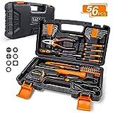 Haushaltskoffer,TACKLIFE 56-teilig Multifunktion-Werkzeugkoffer, Reparaturwerkzeugset für den Heimgebrauch, perfekt für alle Heimwerkerarbeiten mit Hammer, Messer, Schraubendreher -...