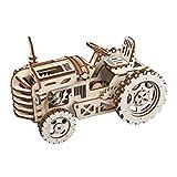 Robotime Mechanischer Traktor 3D Holzpuzzle Laser-Cut für die Selbstmontage ohne Kleber - Holz...