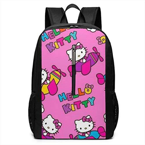 Backpack 17 Inch, Pilot Hello Kitty Large Laptop Bag Travel Hiking Daypack for Men Women School Work