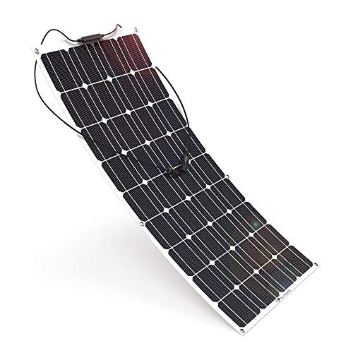 Panel Solar Flexible 100w Monocrystalline 12v 100w Flex Solar Panel Ideal para Autocaravana,Caravana y Barco Panel Solar Flex