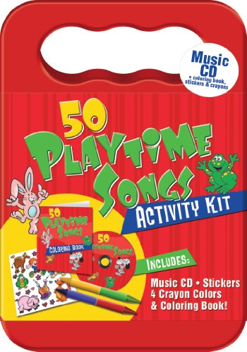 50 PlaytimeSongs CD Activity Kit (Packaged in carrying case with Stickers, Crayons and Coloring Book)