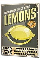 カレンダー Perpetual Calendar Retro Lemon Tin Metal Magnetic