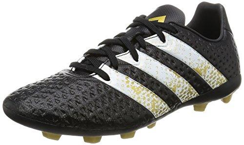 adidas Ace 16.4 FxG J, Botas de fútbol, Negro (Core Black/FTWR White/Gold Met.), 35 EU
