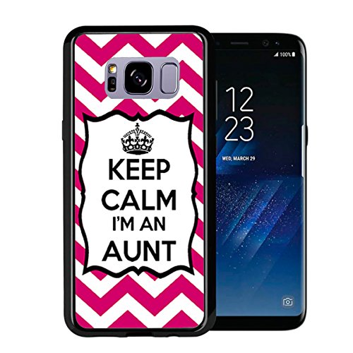 Chevron Pink Keep Calm Im an Aunt for Samsung Galaxy S8 2017 Case Cover by Atomic Market