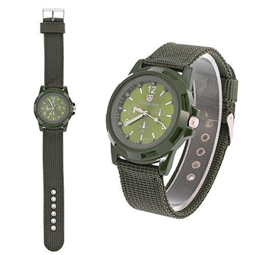 Elektronische Digital Armbanduhr Mann Uhr Mann-dauerhafte Nylonband Sport kühle Mode Armbanduhren(Army Green)