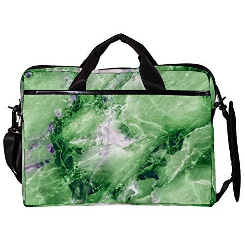 Mochila unisex para ordenador portátil, ligera, bolsa de viaje de lona, con hebillas, pintura de campo de arroz, color verde