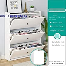 XDDDX Tipping Shoe Cabinet Ultra-Thin Home Entrance Large Capacity Entrance Cabinet Multi-Layer Storage Hall Cabinet Balco...
