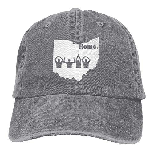 XCNGG Ohio Home State Unisex Sombreros de Vaquero Sombrero de Mezclilla Deportivo Gorra de béisbol de Moda Negro