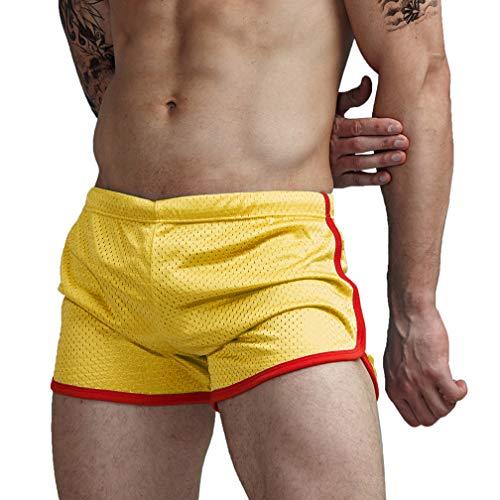 AIMPACT Swimsuit Mens Shorts Sexy Swimwear Trunks (AC11Yellow M)