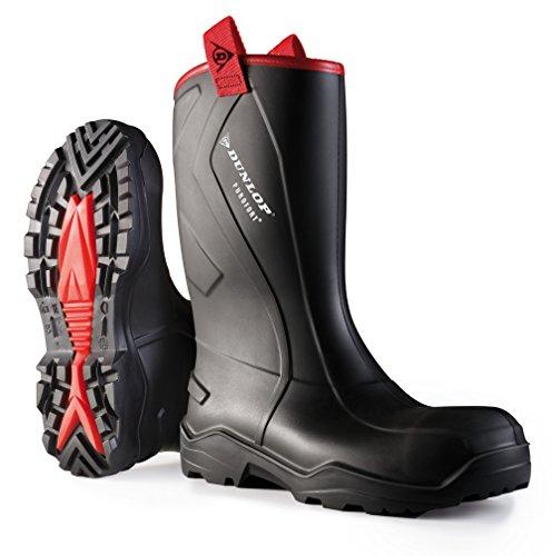 Dunlop Protective Footwear Purofort Rugged full safety Unisex-Erwachsene Gummistiefel, Schwarz 43 EU