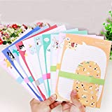 SCStyle Envelopes 3.54 Inches x3.34 Inches,30 Cute Lovely Kawaii Special Design Writing Stationery Writing Paper 9.25Inches x6.3 Inches and 15 Envelopes,Stationary Paper and Envelopes Set