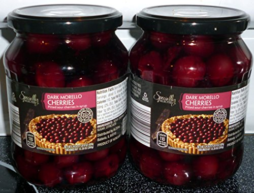 Specially Selected Dark Morello Pitted Sour Cherries, Large 24 oz Jars, (2) Pack