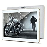 KUNWFNIX Tab T10 - Tablet de 10 pulgadas, Android 8.1, con 2 GB de RAM, 32 GB de ROM, 128 GB de memoria ampliable, CPU Quad Core, cámara dual, SIM 3G, tabletas, WiFi, GPS/Bluetooth, color blanco
