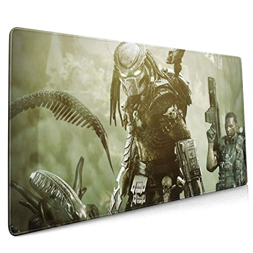 Professional Large Gaming Mouse Pad,Alien-Vs-Predator-Game-Backgrounds,90x40cm Computer Mouse Mat,Office Non-Slip Rubber Base Water Resistant Stitched Edge,Mouse Pads