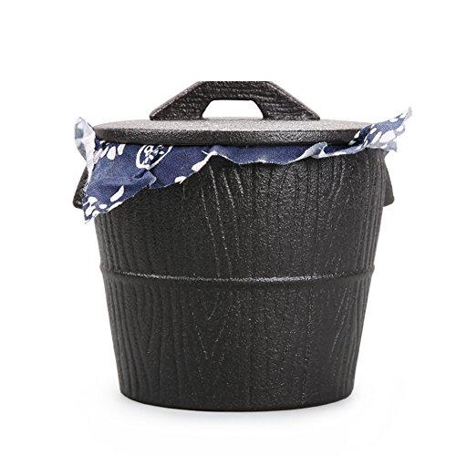 Vaso di porcellana,Canister de thé,Coffres de stockage de thé,Service à thé Pot de thé de poterie grossière Pot de lait-B