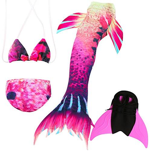 Das beste Das beste Mädchen Bikini Badeanzüge Schönere Meerjungfrauenschwanz zum Schwimmen mit Meerjungfrau Flosse Schwimmen Kostüm Schwanzflosse - EIN Mädchentraum