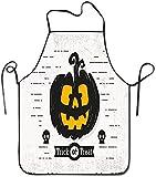 Delantal de calabaza de Halloween truco o trato ajustable personalizado Delantal...